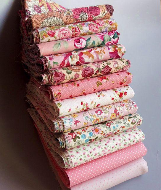 12 ADET 23 cm * 24 cm pembe pamuk patchwork kumaş dikiş kapitone doku DIY el sanatları tilda bebek bezi tecidos dikiş craft malzeme