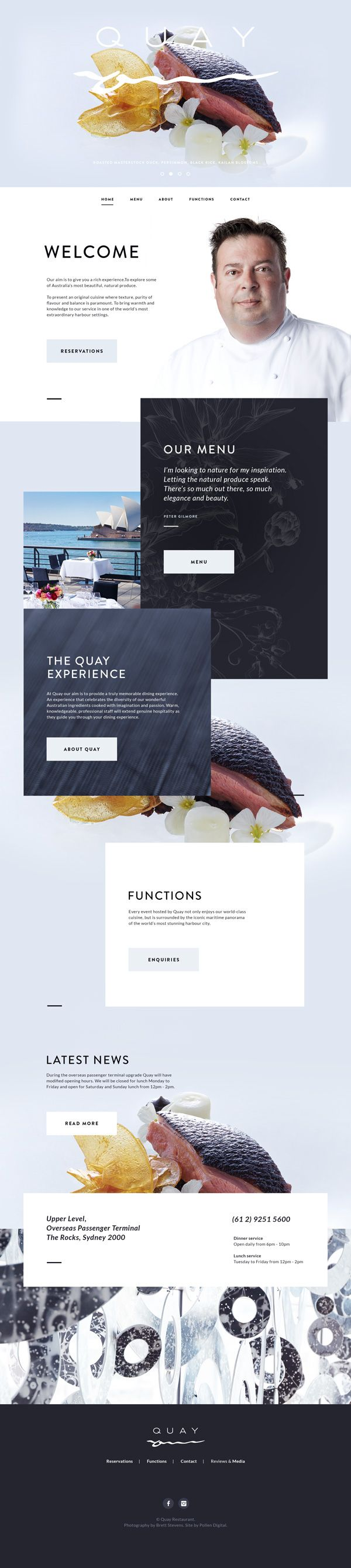 Quay Restaurant // Site Design on Behance