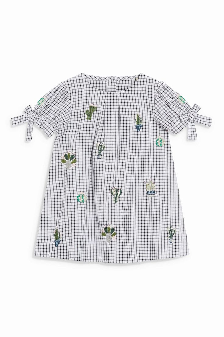 Buy Cactus Embroidered Check Dress And Tights Set (3mths-6yrs) from the Next UK online shop