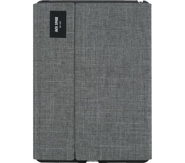 """Buy JACK SPADE Tech Oxford iPad Pro 9.7"""" Folio Case - Grey, Grey Price: £59.98 Top features: - Durable, protective design with a soft microfibre lining - Watch videos hands-free with the included stand Durable, protective design The Jack Spade Tech Oxford iPad Pro Folio Case is made from durable nylon to keep your screen safe from scratches, marks and smudges - so you can enjoy a clear, crisp..."""