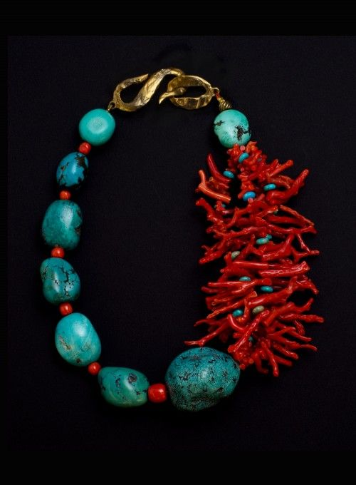 OCEANIDE FIRE NECKLACE - Michèle Baschet  Jewellery Made In France. On Ambassade-Excellence E-Shop!