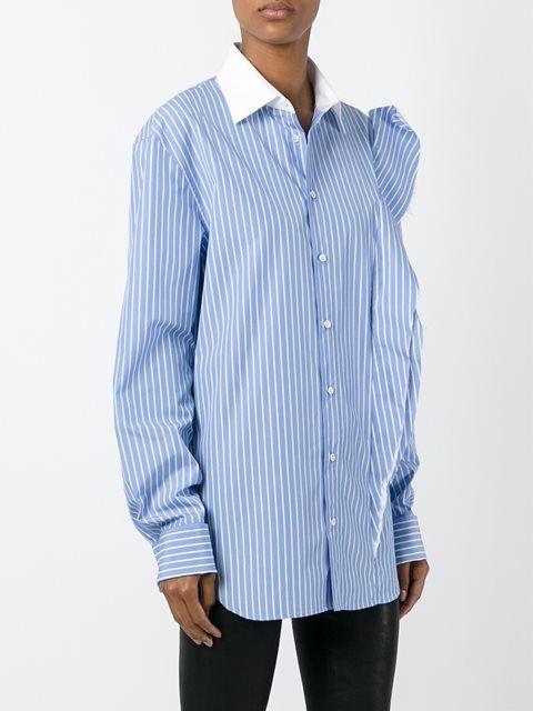 Maison Margiela рубашка в полоску