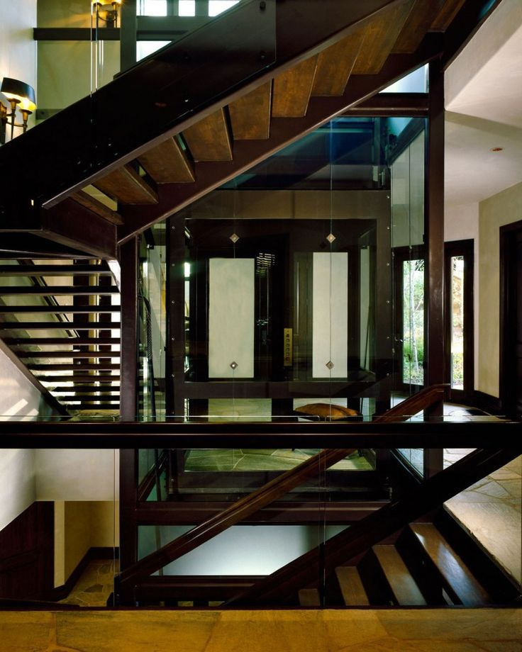 Staircase surround Glass Elevator