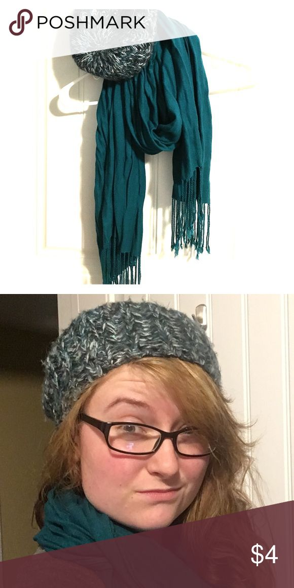 Bright Teal Scarf Simply adorable teal scarf, would look nice with the knitted beanie if you want to bundle. Lightly used. Accessories Scarves & Wraps