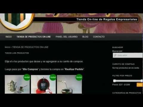 Video Demostración Sitio Web Carrito de Compras Autoadministrable Oscommerce