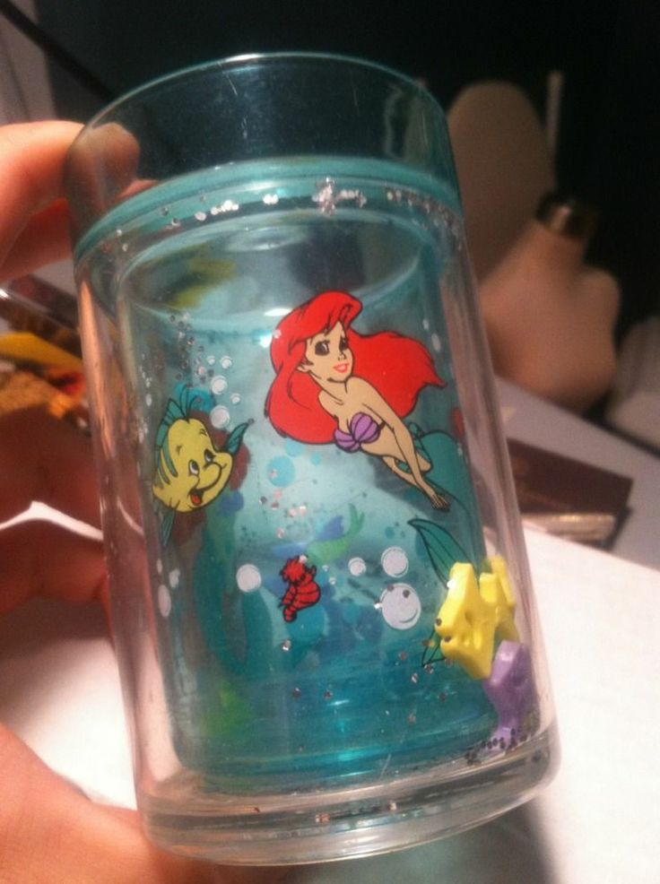 Rare 1990 Disney Store The Little Mermaid Ariel Tumbler Cup Brand Princess Green #Disney