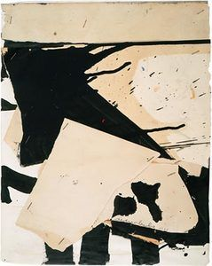 Alfred Leslie Untitled 1953 mixed madia and collage on paper mounted on board 15 1/2 x 12 1/4inches 39.4 x 31.1 cm