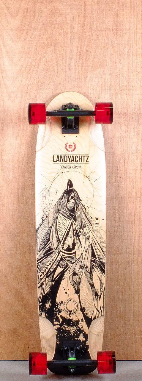 "Landyachtz 37"" Canyon Arrow Longboard Complete Bottom"