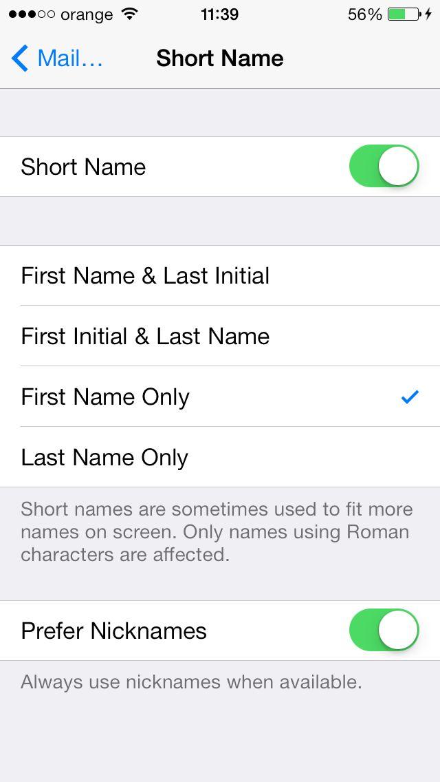 iOS 7 – iata cum poti afisa numele complet al contactelor in aplicatiile Messages sau Mail