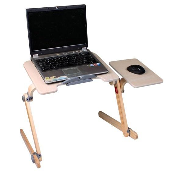 Great Notebook Tisch NegTray FLOWER x cm Laptop Tray Knietablett h henverstellbar Holz wei