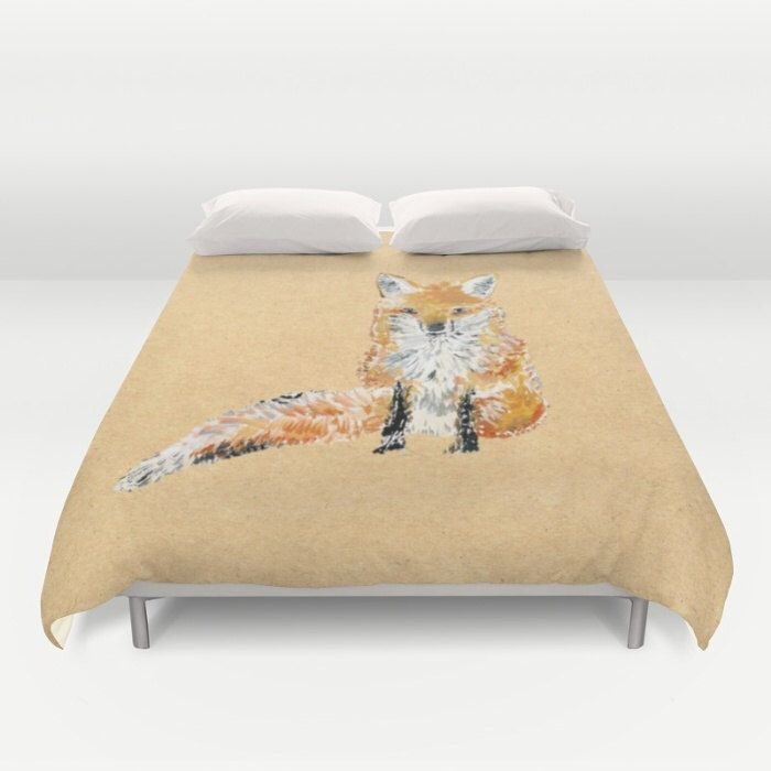 A personal favorite from my Etsy shop https://www.etsy.com/listing/463230134/fox-brown-duvet-cover-fox-bed-cover-fox