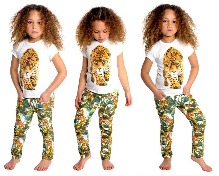 Rock Your Baby Tropical Pants $39.95 sizes 2 to 7. Leopard tee on the way.