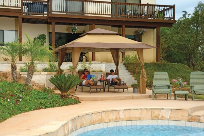 12 best pool side images on pinterest outdoor ideas - Attractive patio gazebo canopy designs for inviting outdoor room ...