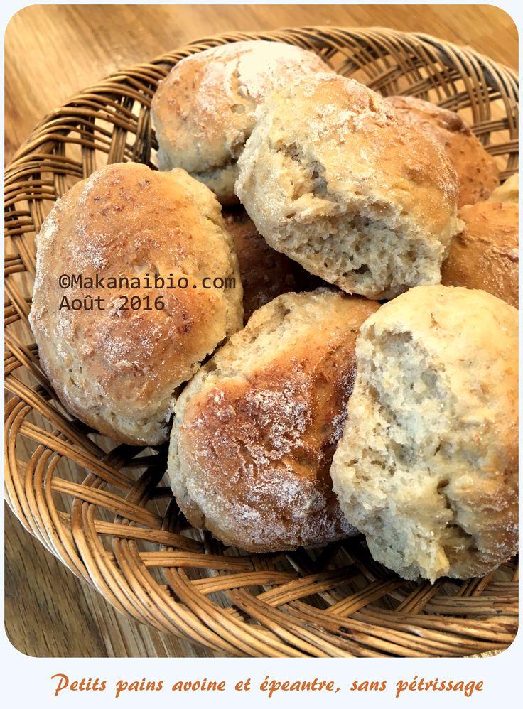 Petits pains épeautre et avoine sans pétrissage