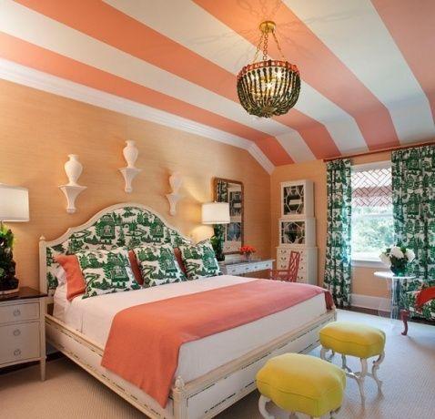 perzik kleur combinatie in het interieur