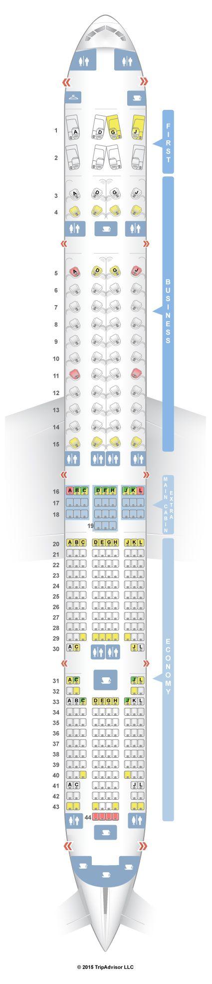 SeatGuru Seat Map American Airlines Boeing 777-300ER (77W)