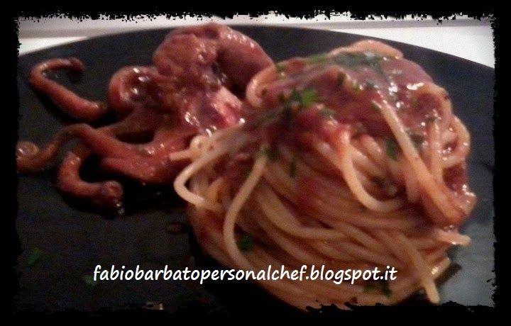 Spaghetti al sugo di Moscardini alla Diavola ~ Fabio Barbato