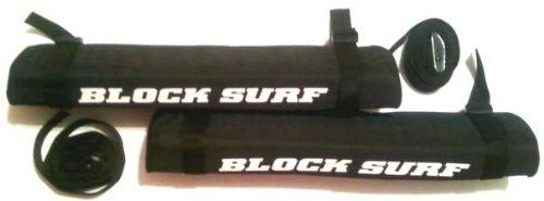 Block Surf SUV Racks The Block Surf SUV surfboard rack mounts on the existing rack bars. Comes with two pads per pack and adjustable straps. Includes carrying case....