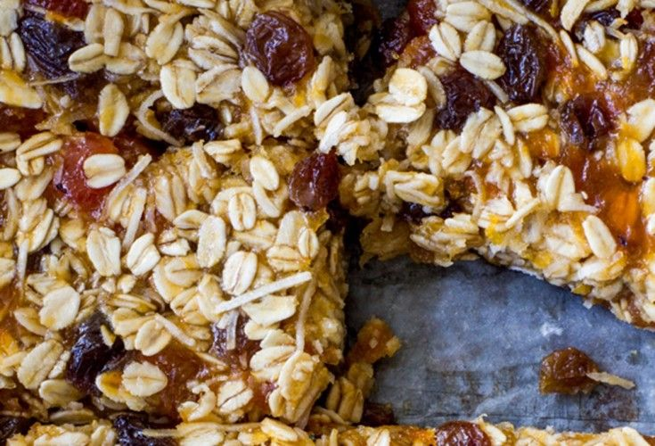 Apricot and Coconut Oat Slice   Nadia Lim