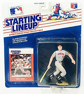 Kent Hrbek Action Figure in Minnesota Twins Uniform - 1988 Starting Lineup Major League Baseball Series