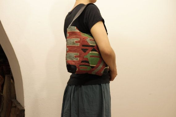 HANDWOVEN Vintage Kilim bag-Turkish Handmade Kilim by kilimci