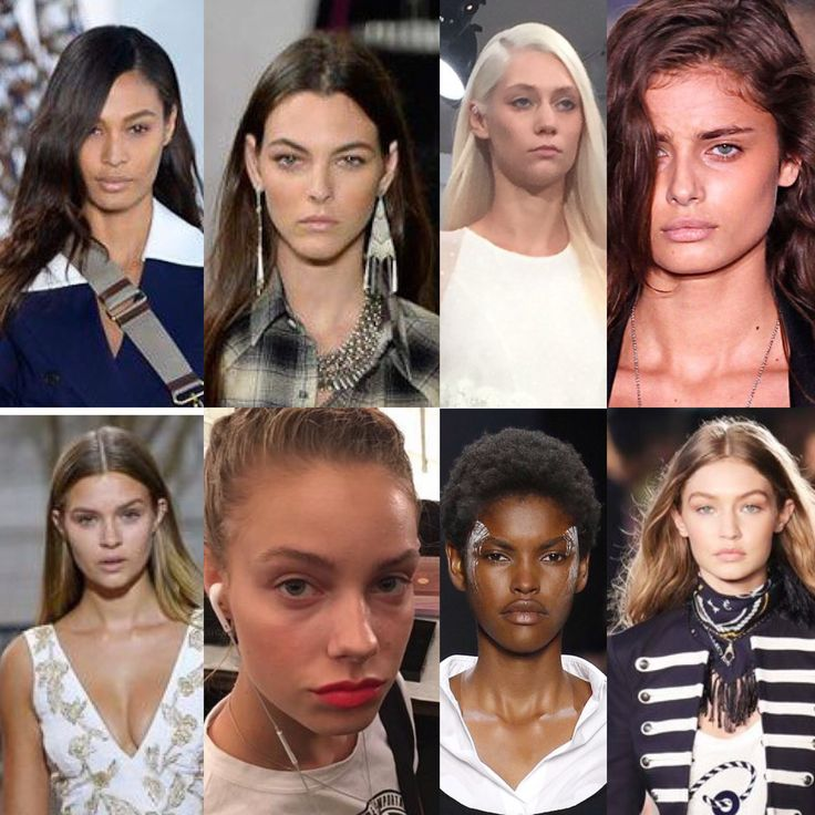 NYFW makeup - fresh faces and natural hair textures galore