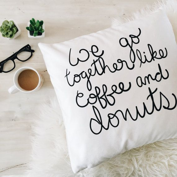 I NEED this!! Donuts & Coffee 18x18 pillow case by ohmydearhandmade on Etsy