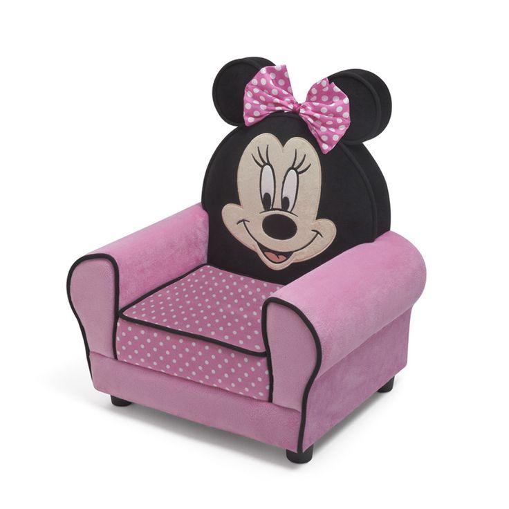 Sillón infantil Minnie Mouse Disney, complemento ideal para un dormitorio infantil #Disney #juvenilesoutlet #mueblesminnie #dormitorioinfantil
