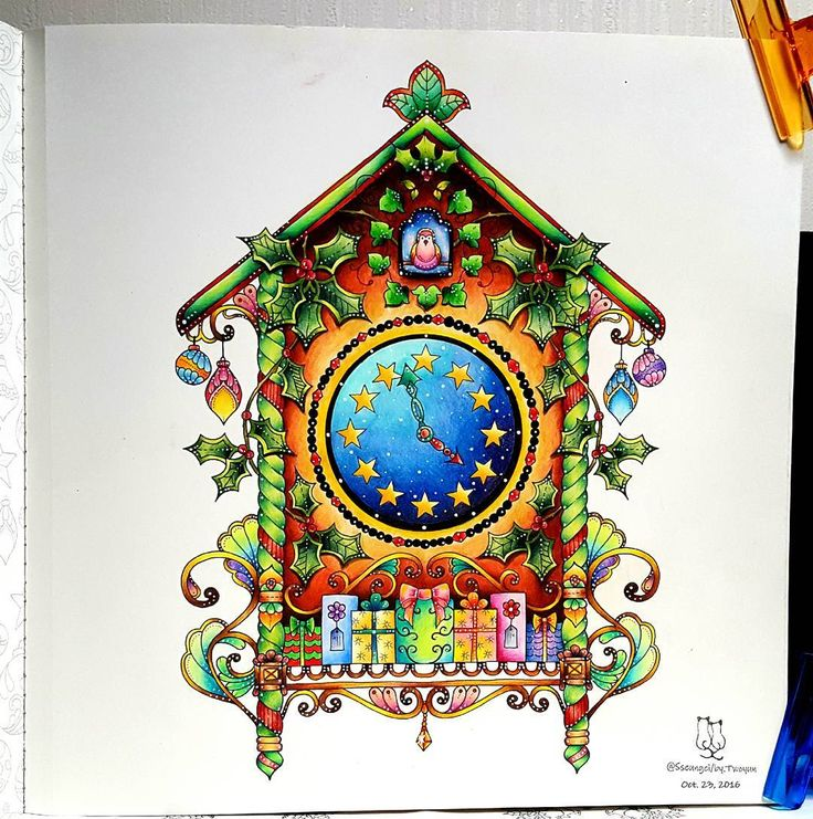 86 best Johanna Christmas images on Pinterest | Adult coloring ...