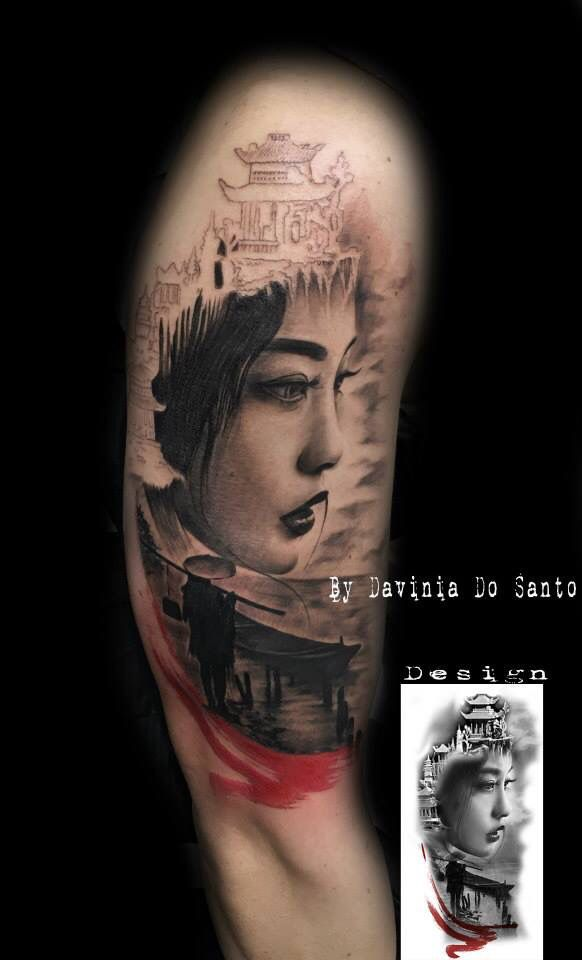 #Geisha #tattoo #tatouage