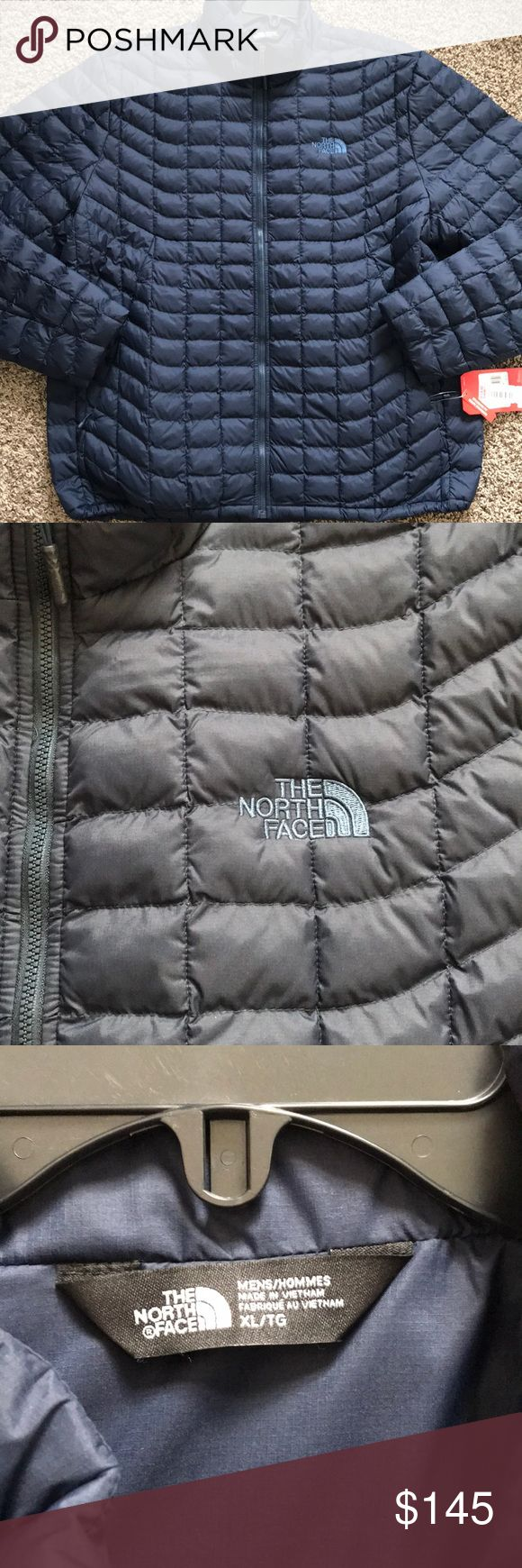 NWT North Face Men's navy blue puffer jacket warm This is a nice navy blue color XL North face puffer jacket.  Smoke free pet free home The North Face Jackets & Coats Puffers