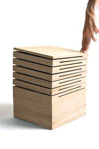 I'm a sucker for ridged materials made to flex. Le tabouret - Design : Franck Fontana