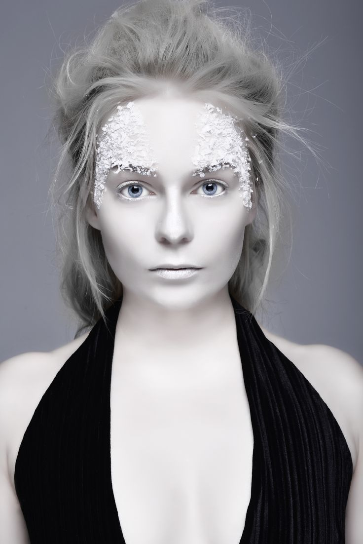 Ice Queen White Makeup Pale Skin