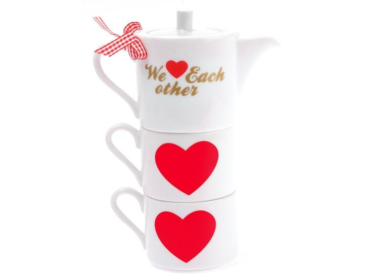Set pentru ceai We Love Each Other