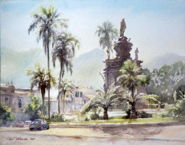 Мишель Орловски - Площадь Виттория в Палермо, Сицилия