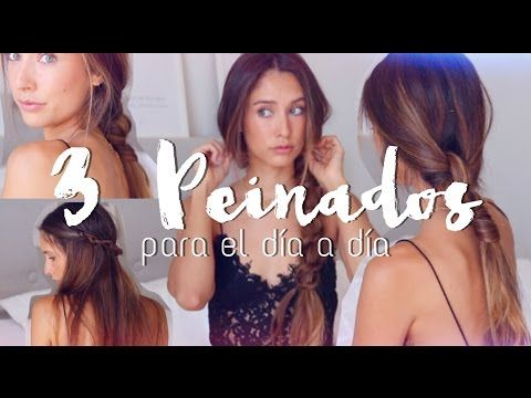 3 PEINADOS FÁCILES PARA EL VERANO | happysunnyflowers - YouTube