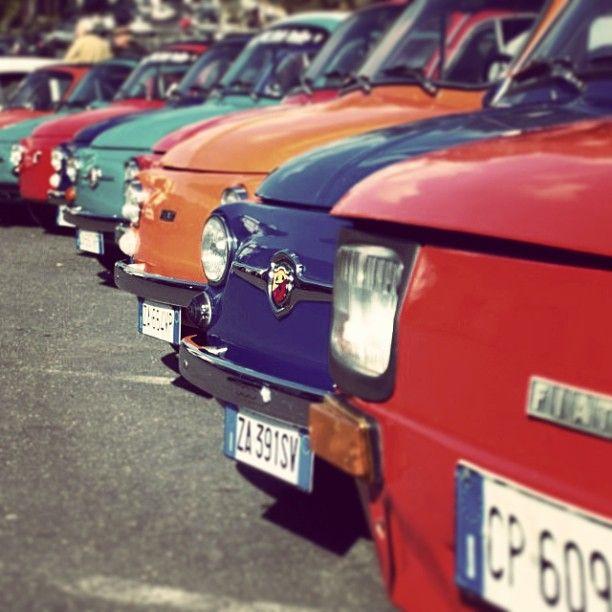 colorful classics #Fiat500 #Fiat126