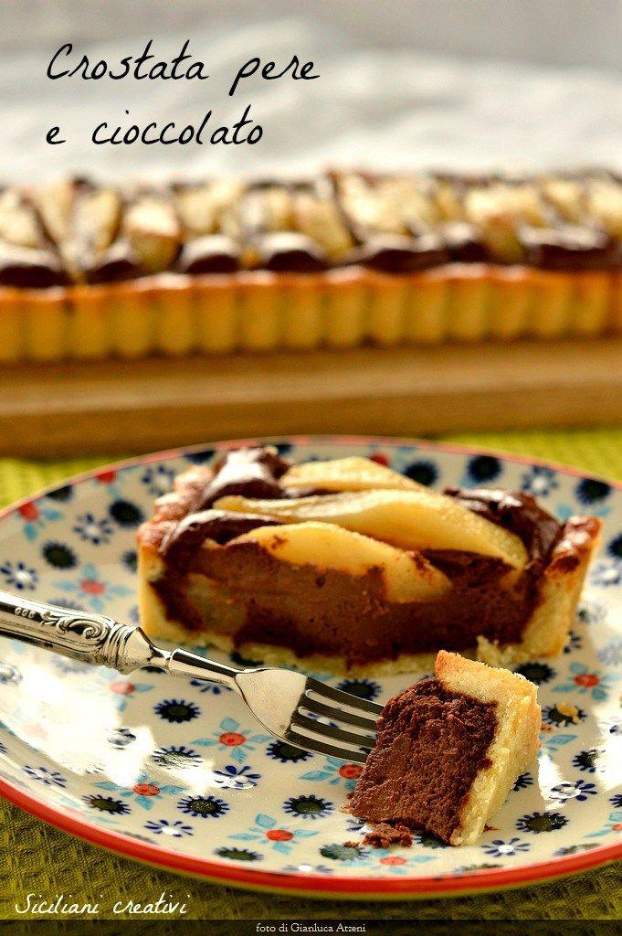 Crostata pere e cioccolato | Pears and chocolate tarte  #crostata #tarte #dessertrecipes #dessert #dolci #pears #chocolate #chocolatelovers #chocolatecake #cioccolato