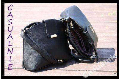 Kup teraz na allegro.pl za 45,00 zł - WYGODNA mała czarna torebka listonoszka (6462525859). Allegro.pl - Radość zakupów i bezpieczeństwo dzięki Programowi Ochrony Kupujących!