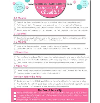 Planning a bachelorette party can be tricky, pricey, and stressful. Check out this FREE printable to help ease the process! It has the month by month countdown and an easy to follow list of what to get done and when to do it!