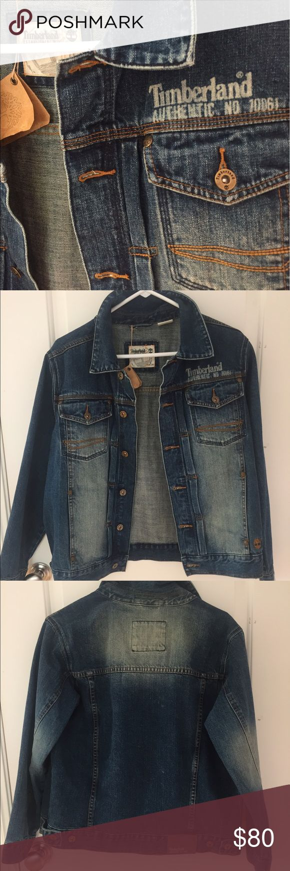 Timberland Jean jacket Never been worn! Tags attached! In absolutely perfect condition!!! Timberland Jackets & Coats Jean Jackets