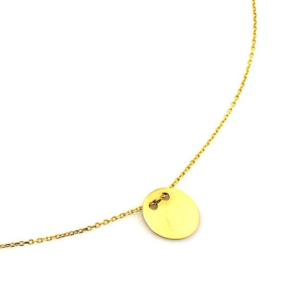 Celebrity neckleace gold plated by Moonstoneamber on Etsy, $15.00
