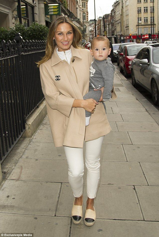 Fashion parade:Sam Faiers looked like a super chic mum as she carried her cute son Paul Tony around London on Monday as she headed to meetings