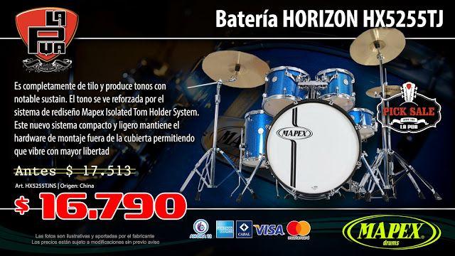 La Púa San Miguel: Batería MAPEX HORIZON HX5255TJNS
