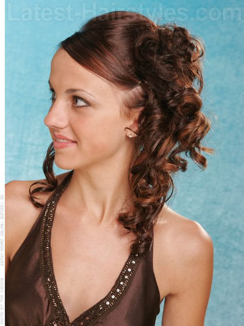 Show Off Your Beautiful Curls With These Curly Hair Updos