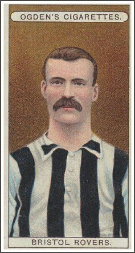 Cigarette card in the 1900s - Bristol Rovers.