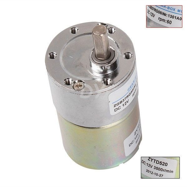New Reversible 12V DC 60 RPM Gear-Box Speed control Electric Motor