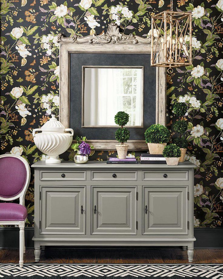 Wow your guests and dress up your foyer in a pretty floral