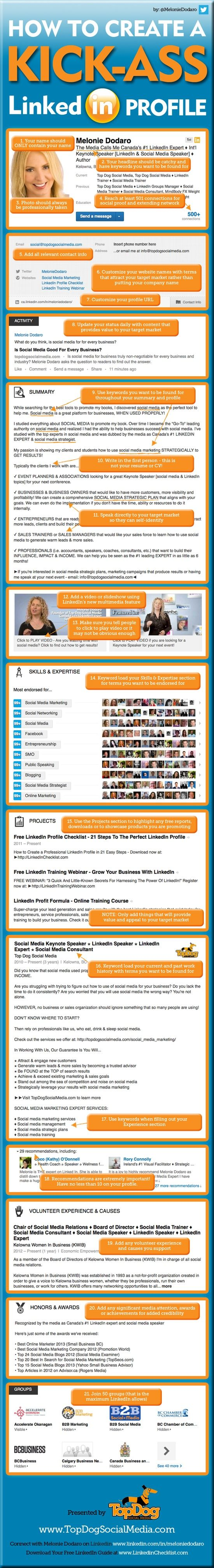 How to Create a Great LinkedIn Profile #Infographic