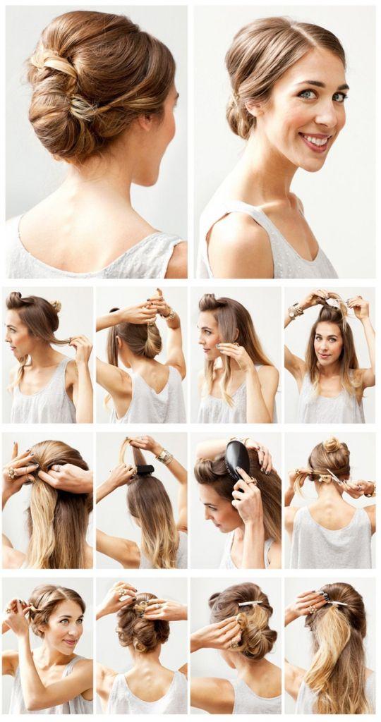 Extrêmement Tuto coiffure mariage a faire soi meme | Coiffures féminines et  EK09
